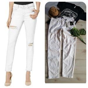 Buffalo distress skinny white jean